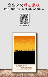 蚂蚁团队企业文化励志展板