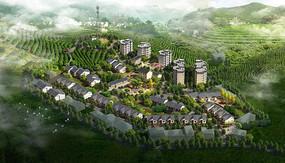 陕西南部地区乡村规划鸟瞰图