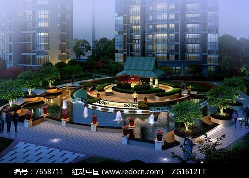 现代住宅小区入口景观图片