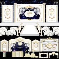 象牙白主题婚礼 AI