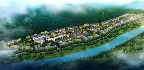 乡镇规划鸟瞰图