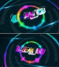 音频随音乐跳动logo演绎ae模板