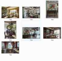 一套典雅美式别墅室内装修