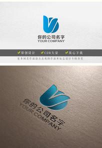 字母V圆形logo