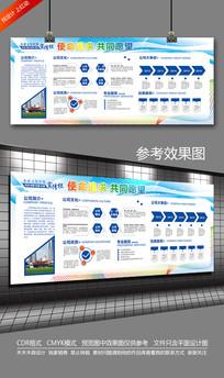 大气动感蓝色企业文化宣传栏