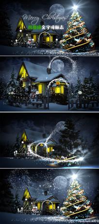魔法粒子圣诞节开场片头模板