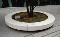 白色圆形树池 JPG