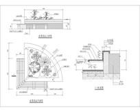 半圆弧形坐凳花坛 CAD