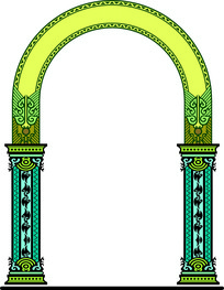 拱门欧式装饰图案