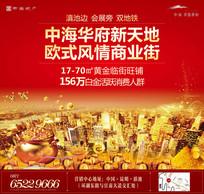 红色城市住宅热销期包装展板