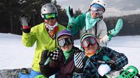 滑雪演员笑脸视频