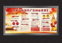 机关中国共产党问责条例展板