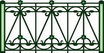 栏杆欧式元素图案装饰