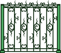 栏杆特色欧式元素图案装饰