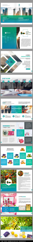 蓝色大气企业形象画册设计企业宣传册图片