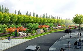 绿地植物造景