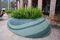 马赛克瓷砖种植池