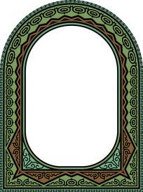 欧式窗框装饰图案