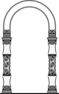 欧式风格拱形柱