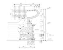 欧式花边纹花钵 CAD