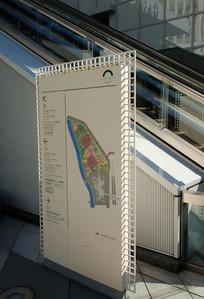 日本某商业中心地图指示牌