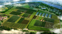 生态农场景观 PSD
