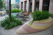 特色瓷砖种植池