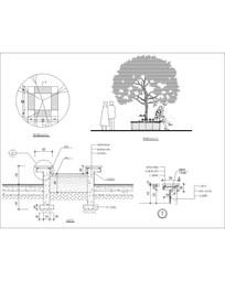 圆形休闲树池 CAD