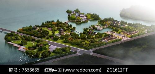 中式风景名胜公园景观图片