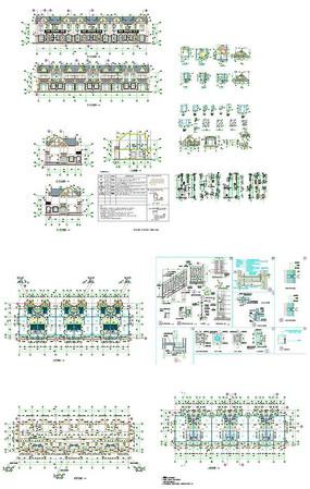 别墅豪庭建筑楼CAD图