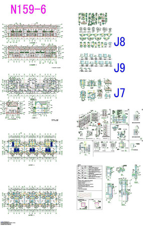 别墅楼房装饰CAD图纸