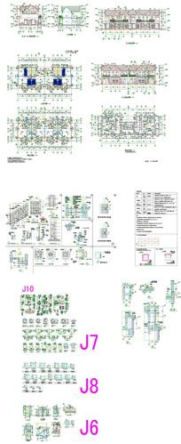 别墅模型建筑设计CAD图纸