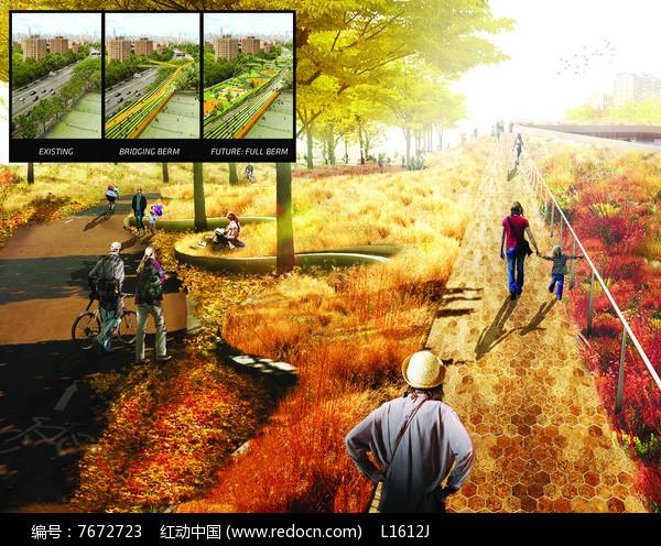 创意公园排版分析图图片
