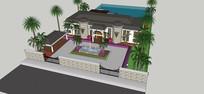 海边别墅庭院设计