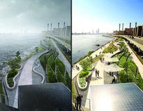 好看的滨江景观效果图