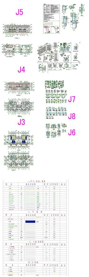 豪庭别墅建筑CAD图纸