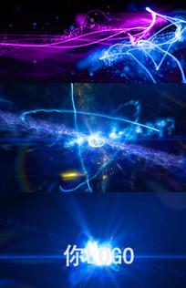 震撼大气粒子汇聚爆炸logo视频模板