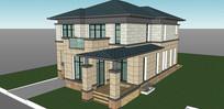中科大欧式别墅住宅模型
