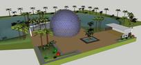 住宅区庭院景观模型