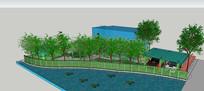住宅区庭院模型