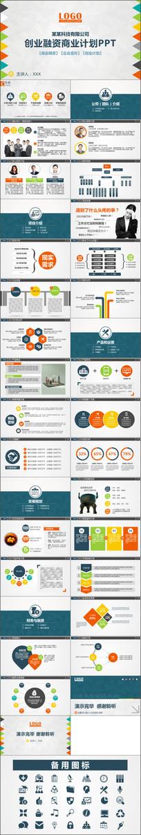 最新框架完整创业计划书商业计划书PPT动态模板