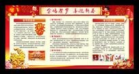 2017新年春节宣传栏手抄报板