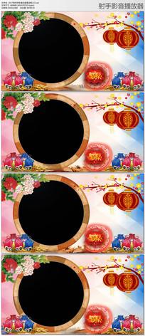 拜年喜庆灯笼遮罩边框视频素材