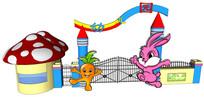 彩色幼儿园大门