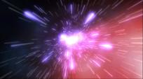 大气光线星河爆炸出logo视频