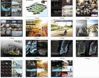 国外景观设计师排版分析图