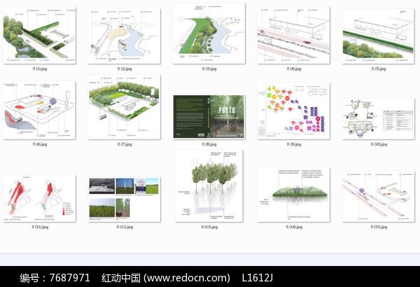 国外生态景观排版分析图图片