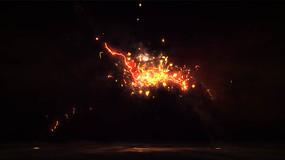 红色闪电火焰企业标志展示视频