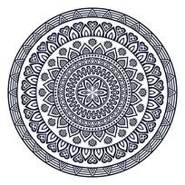 曼陀罗花瓣几何形构成圆形图案