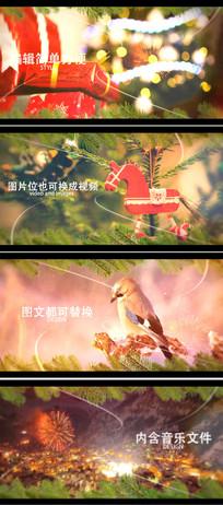 新年节日摄影照片留念相册视频模板